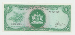 TRINIDAD & TOBAGO 5 DOLLARS 1964 (1977) AUNC+ Pick 31a - Trinité & Tobago