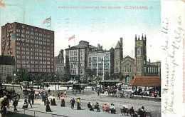 235119-Ohio, Cleveland, Northwest Corner of the Square, 1906 PM, German-American Postal Card Co
