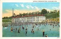 235135-Ohio, Cleveland, Edgewater Park, Bathing Scene, Braun Post Card Co No 57 by Curt Teich No 95400