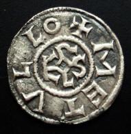 Z9- SUPERBE ! Monnaie CAROLINGIENNE Denier de CHARLEMAGNE +780/800 + CARLVS REX FR / METVLLO Monogramme carolin KAROLVS
