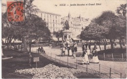 CPA - NICE - Jardin Masséna Et Grand Hotel - Animée - Squares