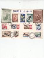 S.MARINO 1959 - Cartoncino Riucordo - San Marino