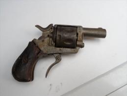 """Revolver/Type """"Bouledogue""""/D'origine BelgeMdle De Poche/Bel état/A Voir!!!! - Decotatieve Wapens"""
