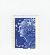 Beaujard TVP Bleu Avec Bande De Phosphore Jaune Repiquée à Gauche . Rare , Voir Le Scan . Cote Maury N° 4188c : 25 € . - Variedades: 2000-09 Nuevos