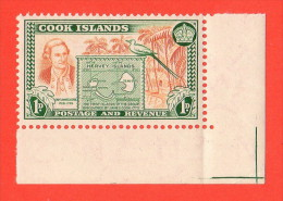 COO SC #132 MNH  1949 Capt. James Cook - Cook Islands