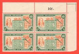 COO SC #132 MNH B4  1949 Capt. James Cook, CV $16.00 - Cook Islands