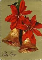 BUON ANNO  Fiore Stella Di Natale Con Campanelli  Cloche - Anno Nuovo