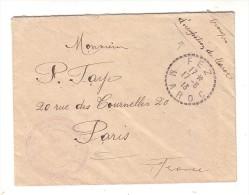 Maroc Fez 1913 Troupes D'Occupation Du Maroc Cachet Troupes Du Maroc Occidental Place De Sefrou - Lettres & Documents