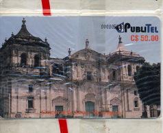 "NICARAGUA PubliTel  Old Chip-card ""Cathedral De Leon""  50 Cordobas Jorgepablo2005 NIC-PUB-18  MINT In Blister - Nicaragua"