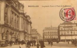 Belgium - Postcard Circulated 1912 -Bruxelles - The Great Post And Place De La Monnaie - 2/scans - Esneux