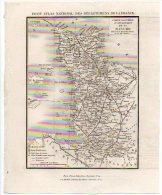 Carte Géographique - Département 50 MANCHE - Environ 1836/38 - Cartes Routières