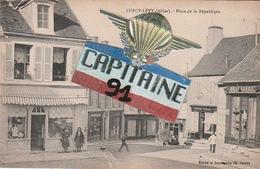 CARTE POSTALE ANCIENNE LURCY LEVY ALLIER PLACE DE LA REPUPLIQUE - France