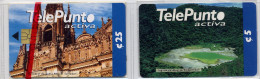 El Salvador TelePunto  2 Old Cards (chip + Prepaid Scratch)  MINT In Blister - El Salvador