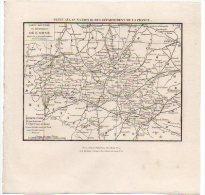 Carte Géographique - Département 61 ORNE - Environ 1836/38 - Roadmaps