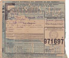13439# COLIS POSTAL SANS TIMBRE Obl MONLEON MAGNOAC HAUTES PYRENEES 1943 - Lettres & Documents