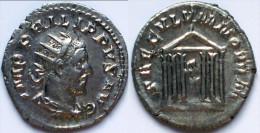 Z27- ABSOLUMENT FDC !!! ANTONINIEN en ARGENT *PHILIPPE 1er L'Arabe SAECULUM NOVUM TEMPLE HEXASTYLE STATUE de ROME *RARE