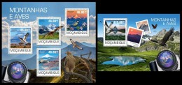 MOZAMBIQUE 2014 - Mountains & Birds. M/S + S/S Official Issue - Oiseaux