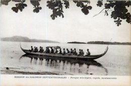OCEANIE  ILES SALOMON SEPTENTRIONALE PIROGUE ET PAGAYEURS   ETHNOLOGIE   VOYAGES - Papua New Guinea