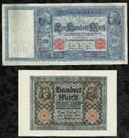 LOT DE 4 BILLETS DE 100 MARK . - [ 2] 1871-1918 : Empire Allemand