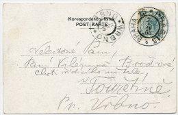CZECHOSLOVAKIA 1900 B/W Postcard (Prague View) With Austria 5 H. - Czechoslovakia