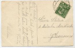 CZECHOSLOVAKIA 1918 B/W Postcard (Brevnov Monastery) With Austria 5 H. - Tchécoslovaquie