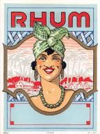 """0869 """"RHUM """"  ETICHETTA ORIGINALE. - Rhum"""
