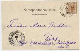 CZECHOSLOVAKIA 1898 B/W Postcard (Brevnov Greetings) With Austria 2 H. Luboc-Hvezda Postmark - Tchécoslovaquie