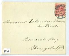 BRIEFOMSLAG  Uit 1914 GELOPEN VAN  ENSCHEDE Naar HENGELO * NVPH NR 60   (9552) - Brieven En Documenten