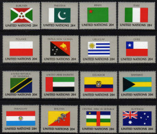 UNO NEW YORK 1984 ** Flaggen UNO Mitgliedsstaaten  - MiNr.448-463 Kompl. Satz MNH - Briefmarken