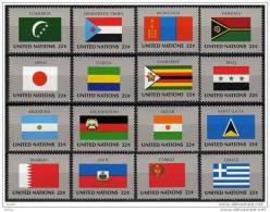 UNO NEW YORK 1987 ** Flaggen UNO Mitgliedsstaaten - MiNr.524-539 Kompl. Satz MNH - Briefmarken