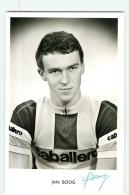 Jan BOOG , Autographe Manuscrit, Dédicace. 2 Scans. Photo Glacée Henk Booms - Cycling