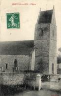 CPA  -  ANNEVILLE  SUR  MER     (50)   L´ Eglise   (  Vaches ?  ) - Frankreich