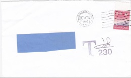 Z2] Enveloppe Cover Hong Kong Taxée Affranchissement Insuffisant Taxed Insufficient Postage - Covers & Documents