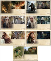 nz1413sF New Zealand 2014 The Hobbit The Battle of the Five Armies archery 7 s/s FDC