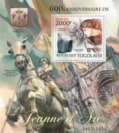 tg12213b Togo 2012 Joan of Arc s/s Horse Michel: 4497 / Bl.715