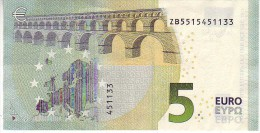 5 Euros 2013 Serie ZB, Z003F1 Signature 3 Mario Draghi N° ZB 5515451133 - 5 Euro