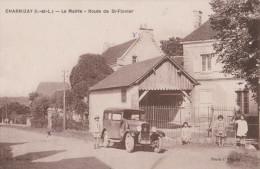 CHARNIZAY 37  ( LA MAIRIE ROUTE DE SAINT FLOVIER   )  AUTOMOBILE VOITURE - Autres Communes