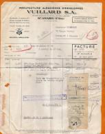Saint AMARIN - Facture De La Manufacture Alsacienne D'enveloppes VUILLARD S.A. - France