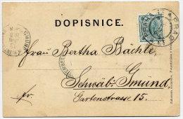 CZECHOSLOVAKIA 1900 B/W Embossed Postcard (Krivoklat) With Austria 5 H. . - Czechoslovakia