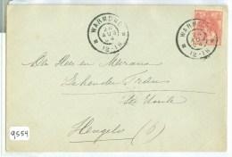 BRIEFOMSLAG Uit 1904 GELOPEN VAN WARMOND Naar HENGELO * NVPH NR 60   (9554) - Period 1891-1948 (Wilhelmina)