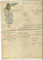 LA BOUVERIE LETTRE DE LA  SOCIETE ROYALE LYRIQUE FONDE EN 1861 - Vieux Papiers