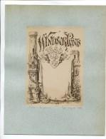 RARE EPREUVE ARTISTE WINDSOR PRINTS 1884 CHATEAU FORT MOYEN AGE DESSIN A LA PLUME DEMENGEOT PARIS - Royaume-Uni