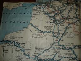 België, Nederland Frankrijk, Duitsland & Zwitserland Bevaarbare Waterwegen, Havenplans Verbinding Noordzee En Rijn - Cartes Marines