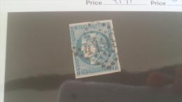 LOT 241310 TIMBRE DE FRANCE OBLITERE N�45A VALEUR 100 EUROS