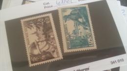 LOT 241347 TIMBRE DE FRANCE NEUF** N�451/452 VALEUR 12 EUROS LUXE