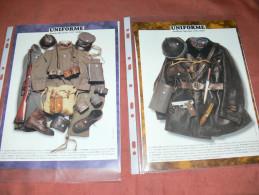 UNIFORMES DETAILS EQUIPEMENT TANKISTE CHAR  FRANCAIS /  SAPEUR DU GENIE ITALIEN  GUERRE WWI 1914/18 / - Uniforms