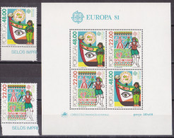 Bm_ Portugal - Mi.Nr. 1531 - 1532 + Bl. 32 - Postfrisch MNH - Europa CEPT - Europa-CEPT