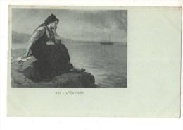 C P A--FANTAISIE--FEMME ALSACIENNE--l'émigrée--voir 2 Scans - Femmes
