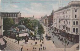 Cpa,1910,allemagne Deutschland,HANNOVER,geor Gstrasse,café Kropcke ,tram,hotel,rare - Hannover