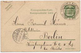 CZECHOSLOVAKIA 1907 5 H. Postal Stationery Card With Ujezd Podhorny Postmark.  Michel P171 - Czechoslovakia